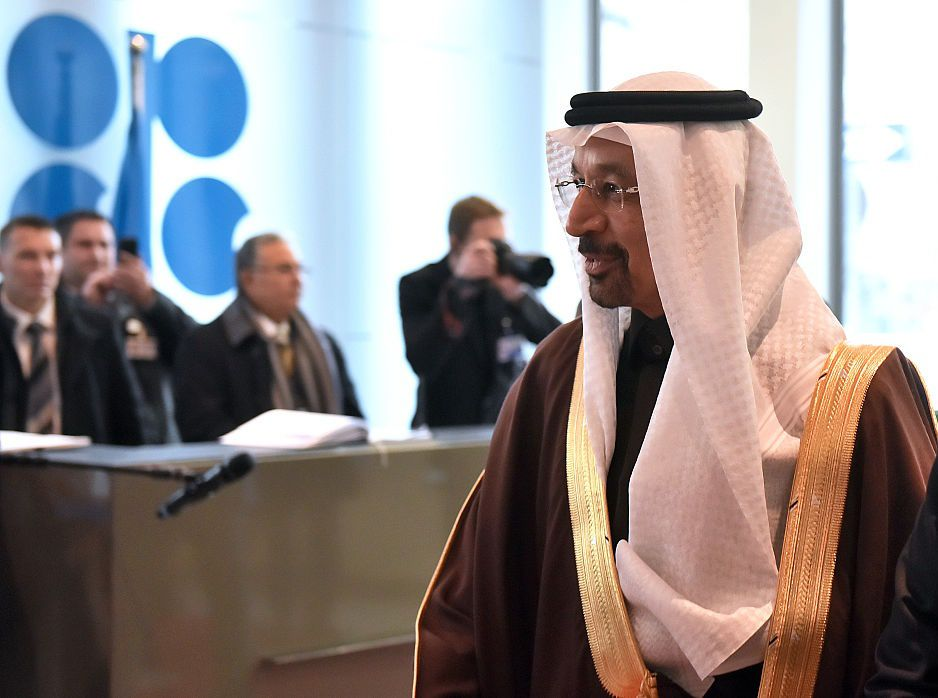 Khalid Al-Falih, Saudi Arabia's energy and industry minister, arrives for the 171st Organization of Petroleum Exporting Countries (OPEC) meeting in Vienna, Austria, on Wednesday, Nov. 30, 2016. Oil climbed as Iran said it has good expectations for a make-or-break OPEC meeting on stabilizing the crude market. Photographer: Akos Stiller/Bloomberg via Getty Images