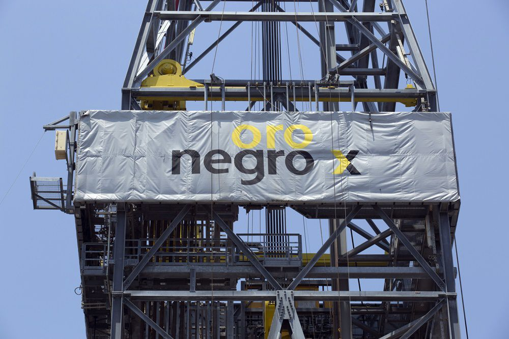 An Oro Negro oil drilling rig operated by Petroleos Mexicans (Pemex) stands in the Ku-Maloob-Zaap oilfield at Campeche Bay off the coast of Ciudad del Carmen, Mexico, on Friday, Aug. 1, 2014. Mexico's Senate is scheduled to hold a vote tonight on the final measure to implement the constitutional overhaul approved in December ending Pemex's exclusive right to crude oil production, now in its 76th year. Photographer: Susana Gonzalez/Bloomberg via Getty Images