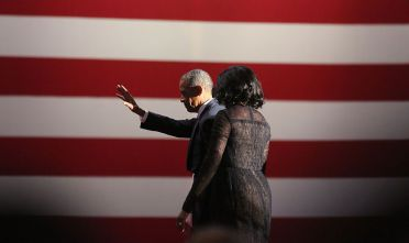 Barack and Michelle Obama leave after the farewell address at McCormick Place in Chicago, Illinois, USA on January 10, 2017.  (Photo by Emily Molli/NurPhoto via Getty Images)