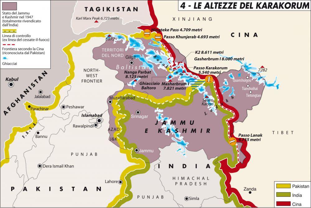 Cartina Dell India Del Nord.L Attacco Aereo Dell India In Pakistan Fa Comodo A Islamabad Limes