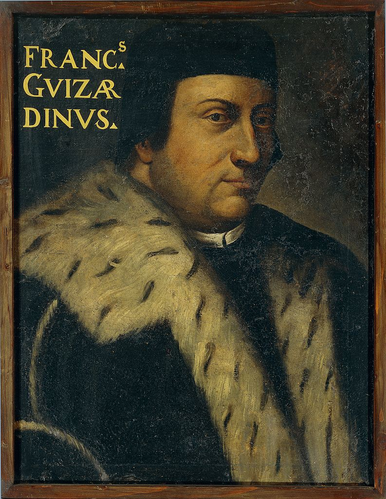 UNSPECIFIED - CIRCA 2010:  Portrait of Francesco Guicciardini (Florence, 1483 - Arcetri, 1540), Italian philosopher, historian and politician. Painting by unknown Italian artist (16th-17th century), oil on canvas, 60x51 cm. (Inv. 1239). Copyright Veneranda Biblioteca Ambrosiana.  (Photo By DEA / VENERANDA BIBLIOTECA AMBROSIANA/De Agostini/Getty Images)