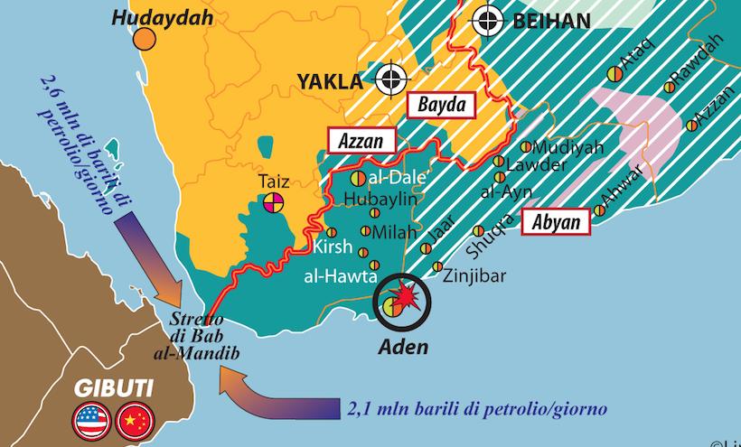 Yemen conteso dettaglio