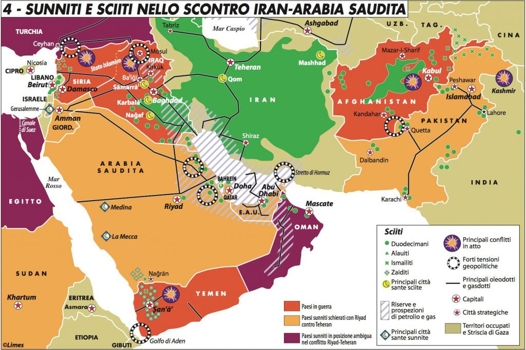 Sunniti e sciiti Iran Arabia Saudita Declich 317