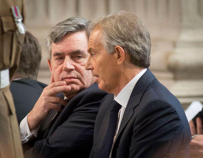 Tony Blair e Gordon Brown alla St Paul's Cathedral di Londra, il 13 maggio 2015. (Foto: Bradley Page - WPA Pool / Getty Images)