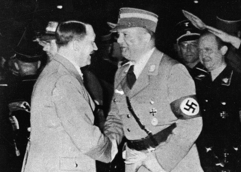 Adolph Hitler insieme al capo delle Sturmabteilung (SA) Ernst Röhm (Foto: Hulton Archive/Getty Images).