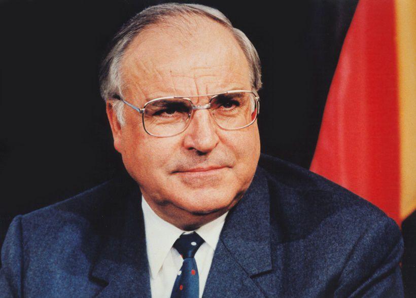 Helmut Kohl, cancelliere tedesco dal 1982 al 1998.