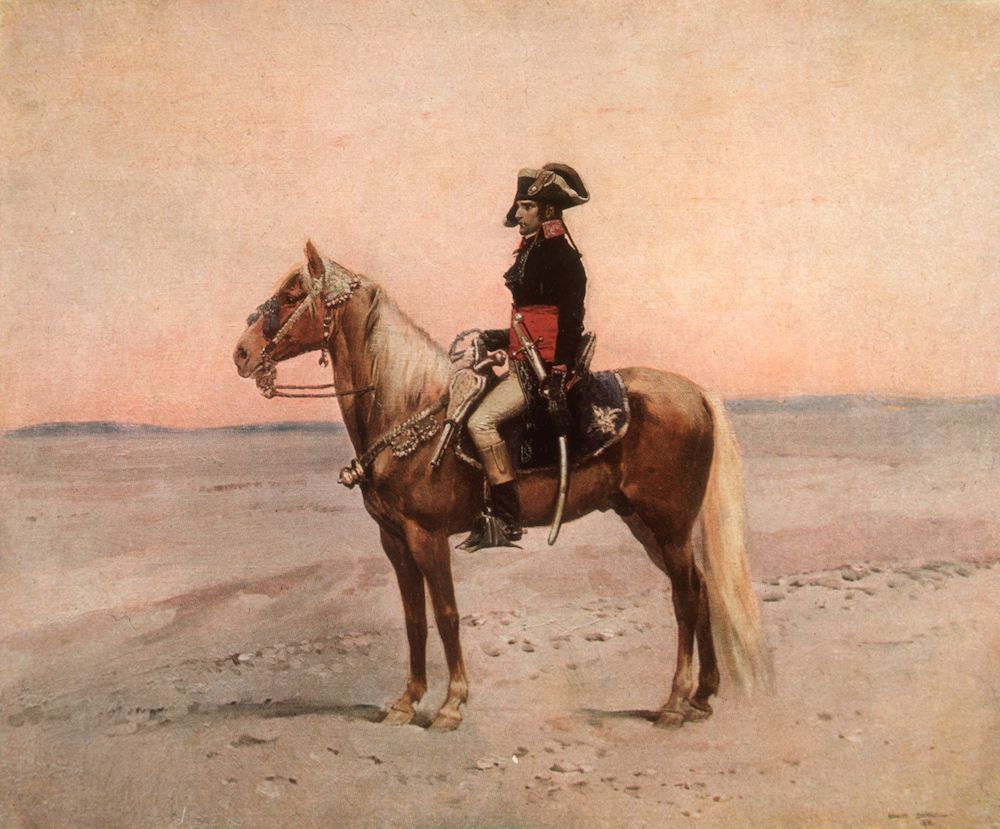 Napoleone, dal quadro di Edouard Detaille (Photo by Hulton Archive/Getty Images)