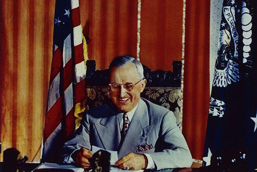 Il presidente Harry Truman alla fine degli anni Quaranta (Foto da Getty Images).
