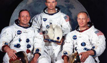 L'equipaggio della missione lunare Apollo 11: Neil A. Armstrong,  Michael Collins, e Edwin E. Aldrin Jr (Foto: NASA/Newsmakers).