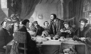 Calvino a colloquio di fronte al Consiglio di Ginevra, 1549 (Foto: Hulton Archive/Getty Images)