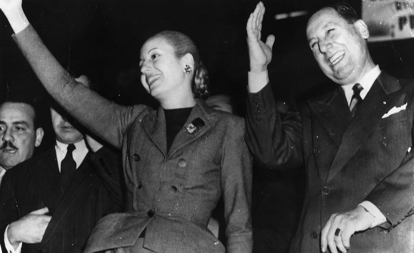 Juan e Eva Peron (Foto: Keystone/Getty Images).