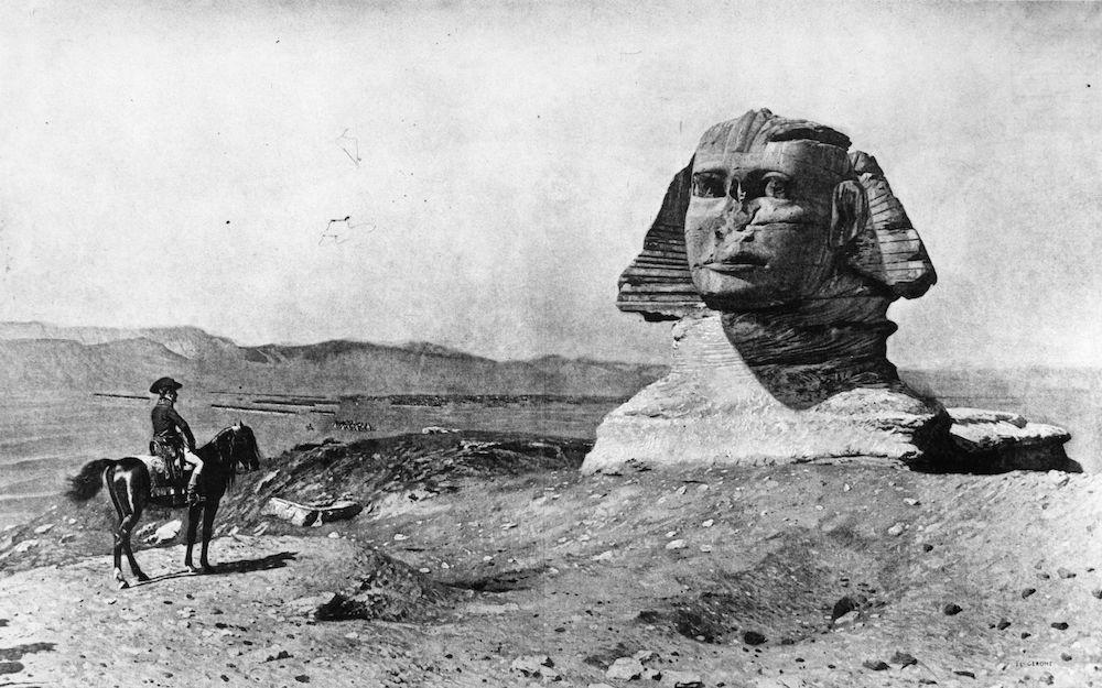 Napoleone visita la Sfinge di Giza durante la Campagna d'Egitto, 1798 (Immagine: HultonArchive/Illustrated London News/Getty Images)
