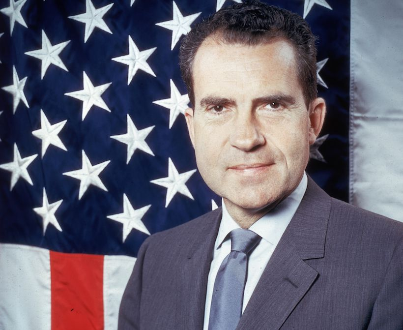 Richard Nixon, presidente degli Stati Uniti dal 1969 al 1974 (Foto: Keystone/Getty Images).