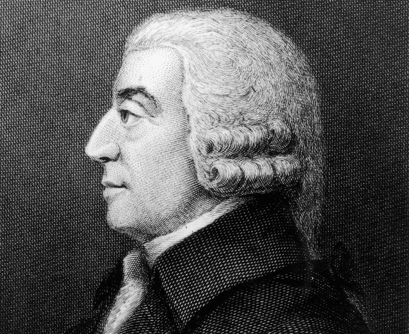 Ritratto dell'economista Adam Smith, 1765 (Immagine: Hulton Archive/Getty Images)