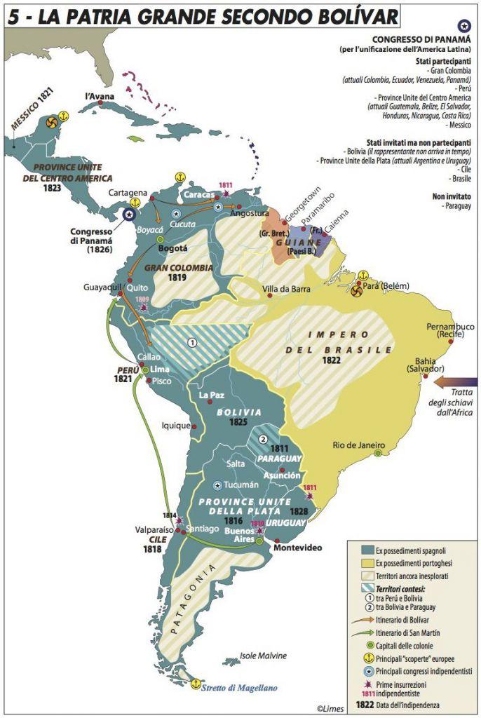 Cartina Fisica America Latina.America Latina La Geografia Come Destino Limes