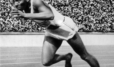 BERLIN - 1936 :  Jesse Owens of the USA in action in the mens 200m at the 1936 Summer Olympic Games held in Berlin, Germany.  Owens won a total of four gold medals in the Olympics, winning the mens 100m final, 200m final and the long jump competiton as well as being part of the victorious USA 4x100m relay team. (Photo by Getty Images/Getty Images)