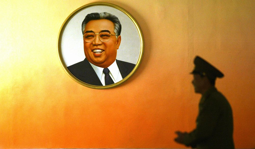 Ritratto del Grande Leader Kim Il-Sung, 2005 (Foto: PETER PARKS/AFP/Getty Images).