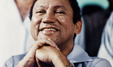 L'ex dittatore di Panamá Manuel Antonio Noriega, 1988 (Foto: GUILLERMO ENDARA/AFP/Getty Images).