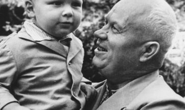 May 1963:  The leader of the Soviet Union, Nikita Khrushchev with his grandson who was also named Nikita.  (Photo by Keystone/Getty Images)