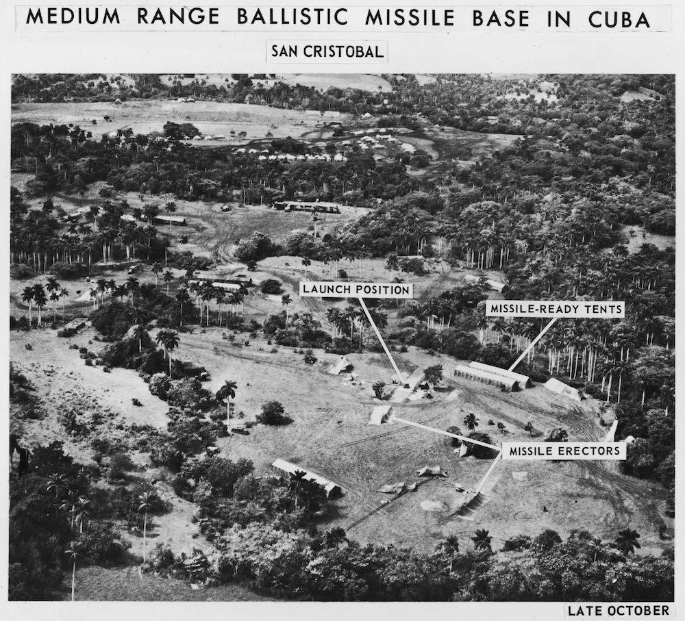 La foto scattata dal volo U-2 sulla base missilistica sovietica nel comune di San Cristóbal a Cuba, ottobre 1962  (Foto: Getty Images).