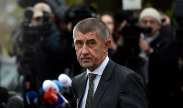Leader of the ANO movement ('YES') and billionaire Andrej Babis arrives to talk to journalists after a meeting with Czech Republic's president on October 23, 2017 at the Lany Castle in the village of Lany, west of Prague. Czech President said he would ask billionaire Andrej Babis to form the next government, a day after his populist ANO movement cruised to victory in the general election. / AFP PHOTO / MICHAL CIZEK        (Photo credit should read MICHAL CIZEK/AFP/Getty Images)