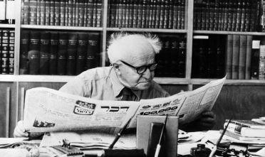 David Ben-Gurion primo premier israeliano e fondatore dello Stato d'Israele.  (Foto: Keystone/Getty Images).