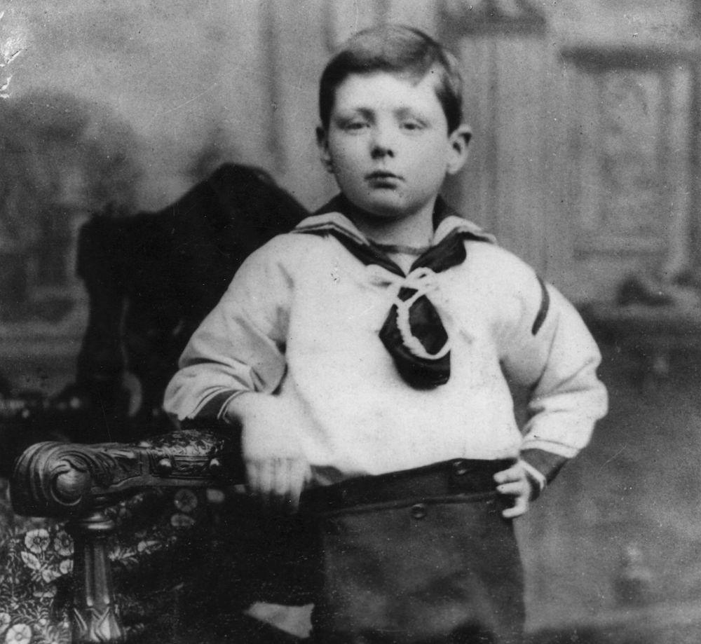 Winston Leonard Spencer Churchill all'età di 7 anni, 1883  (Foto: Hulton Archive/Getty Images).