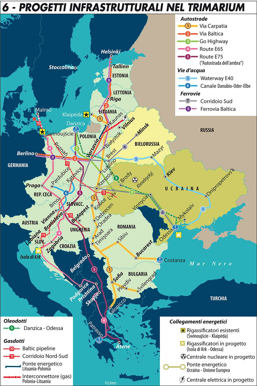 Cartina Italia Slovenia Croazia