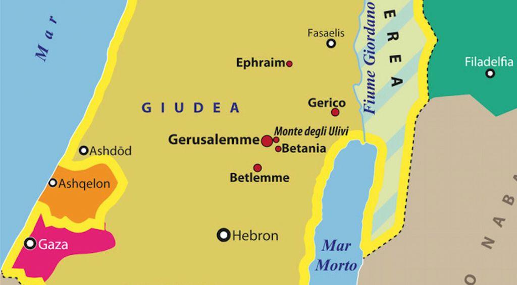 Cartina Politica Israele E Palestina Oggi.Carta Israele Palestina Al Tempo Di Gesu Limes