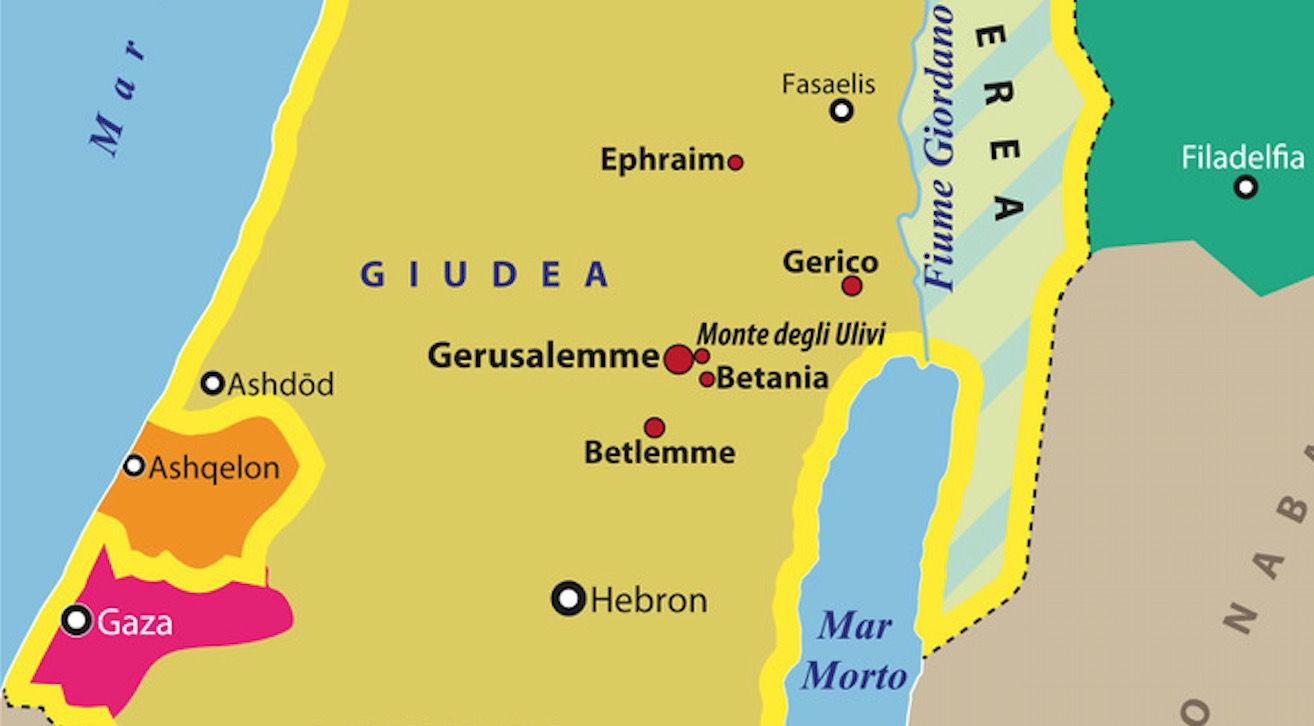 Israele E Palestina Cartina.Carta Israele Palestina Al Tempo Di Gesu Limes