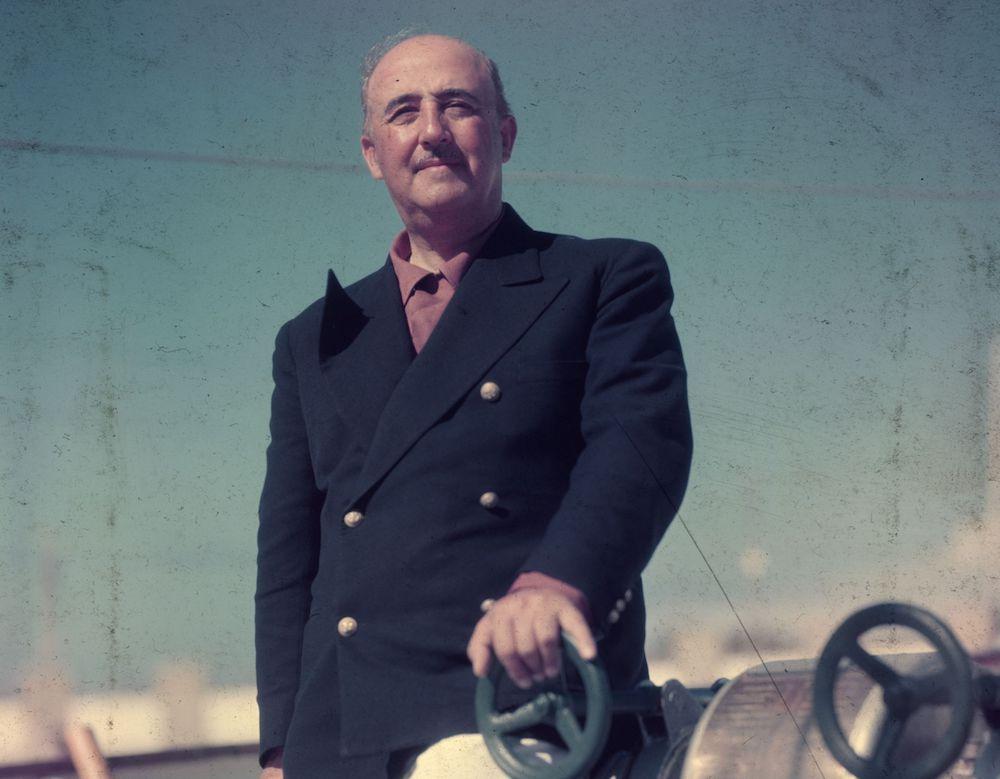 Il dittatore spagnolo Francisco Franco in un'immagine della fine degli anni Quaranta (Foto: Baron/Getty Images).