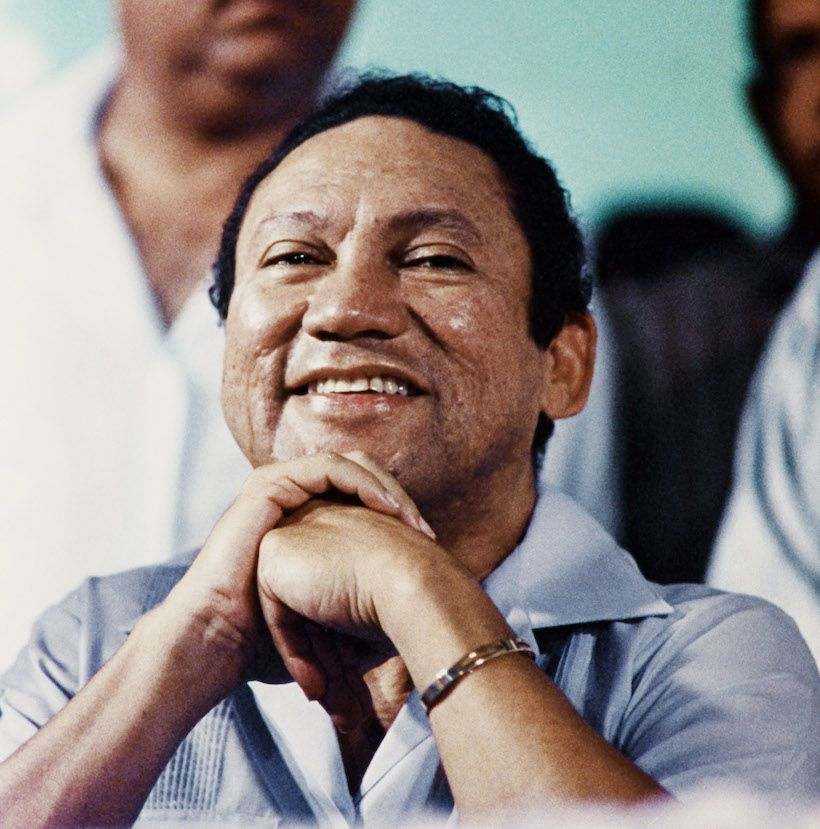 L'ex dittatore di Panamá Manuel Antonio Noriega, nel 1988 (Foto: GUILLERMO ENDARA/AFP/Getty Images).