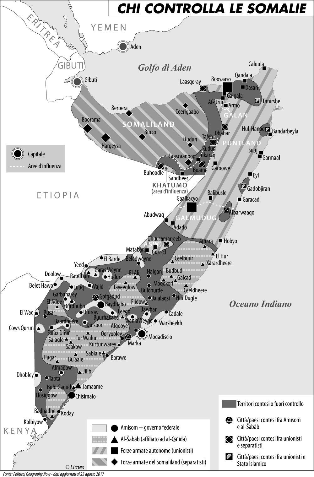 Chi controlla la Somalia b-n