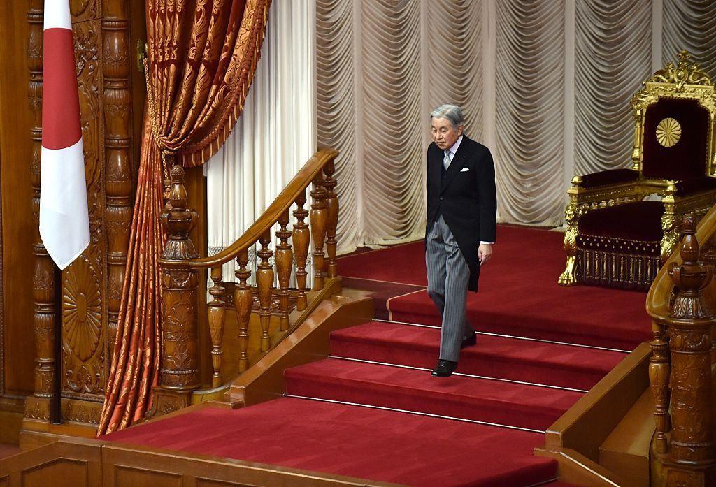 L'imperatore del Giappone Akihito. Foto di KAZUHIRO NOGI/AFP/Getty Images