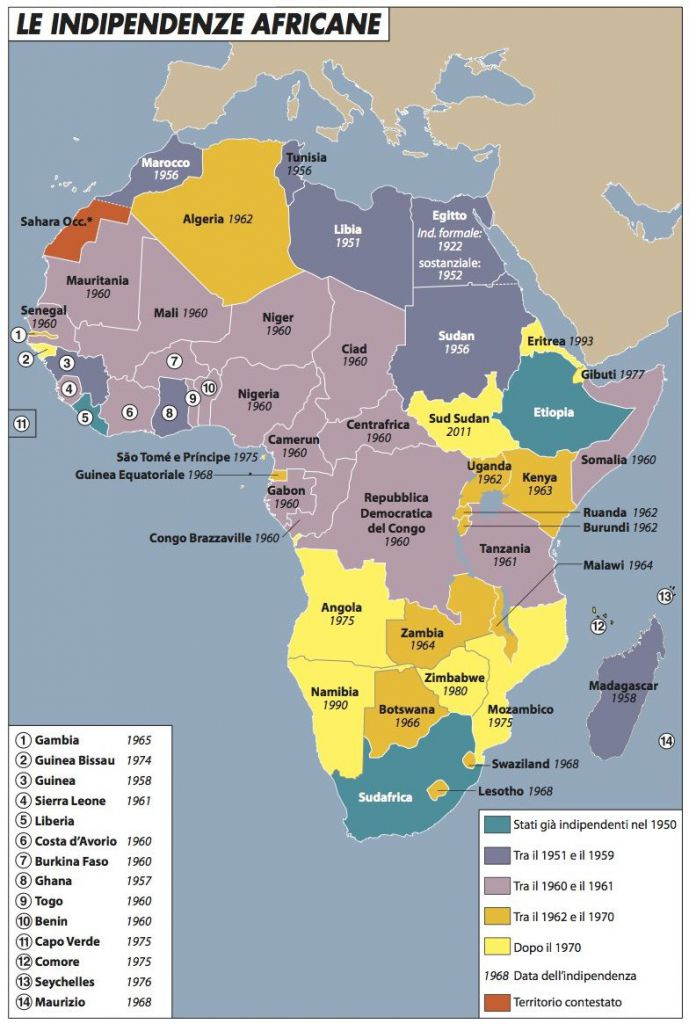 Cartina Africa Egitto.Il Sessantotto Dell Africa Limes