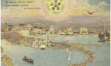 La Quarta Italia, cartolina, edizione Sborgi, 1918 ca.