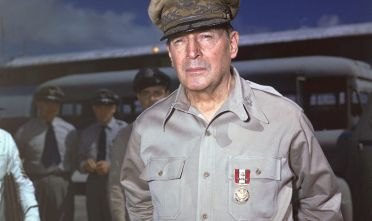 U.S. General Douglas MacArthur poses outdoors in uniform, 1940s. (Photo by Hulton Archive/Getty Images)