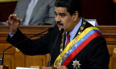 Venezuelan President Nicolas Maduro presents the annual state of the nation report to the National Assembly in Caracas on January 15, 2018. / AFP PHOTO / FEDERICO PARRA        (Photo credit should read FEDERICO PARRA/AFP/Getty Images)