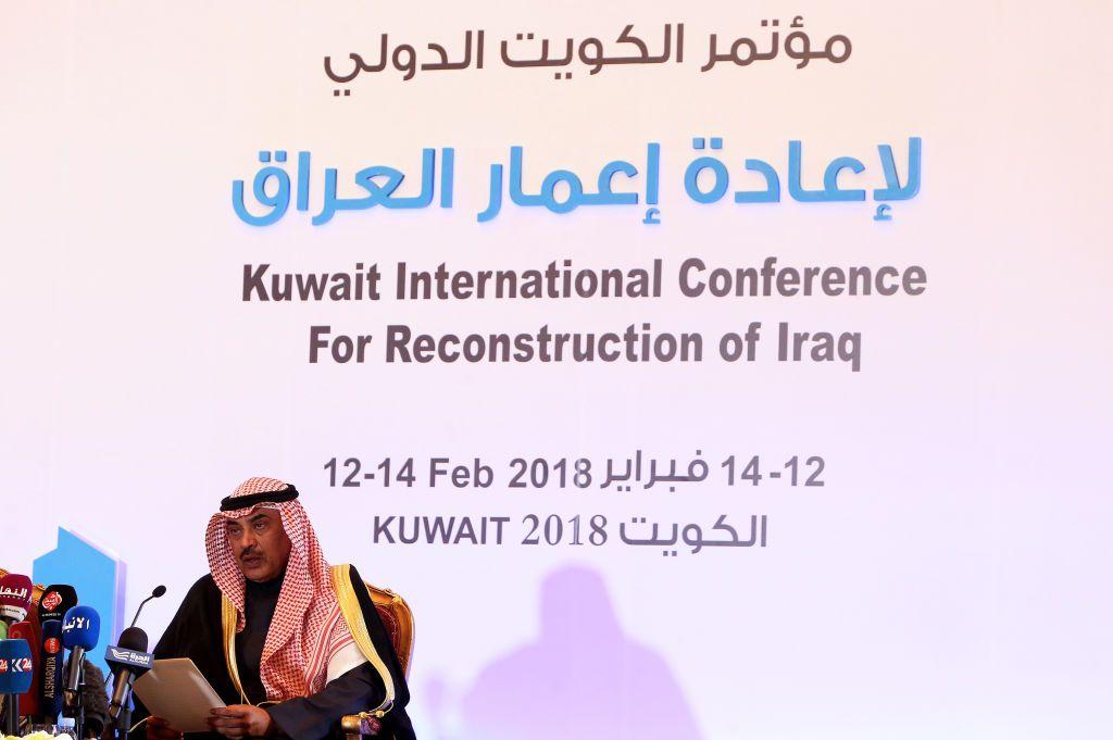 Il ministro degli Esteri del Kuwait Sheikh Sabah al-Khaled al-Sabah durante la conferenza internazionale per la ricostruzione dell'Iraq. Foto di: YASSER AL-ZAYYAT/AFP/Getty Images