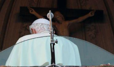 Papa Benedetto XVI durante il suo ultimo discorso pubblico, 28 febbraio (Foto: Christopher Furlong/Getty Images).
