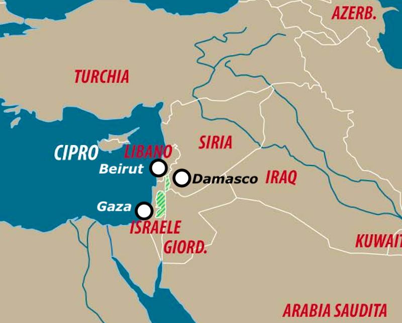 Dettaglio di una carta di Laura Canali. Localizzazione a cura di SiriaLibano.