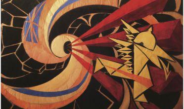 """""""La guerra"""" (1916), opera del pittore futurista piemontese Giacomo Balla."""