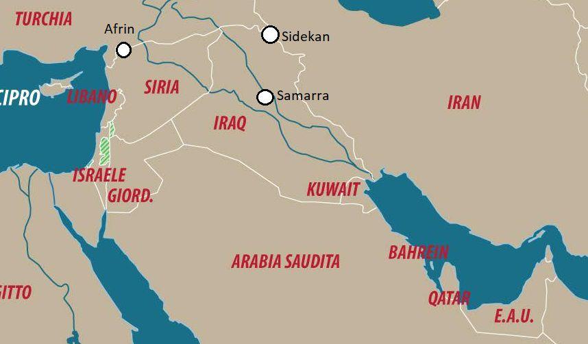 [Dettaglio di una carta di Laura Canali. Localizzazione a cura di SiriaLibano].