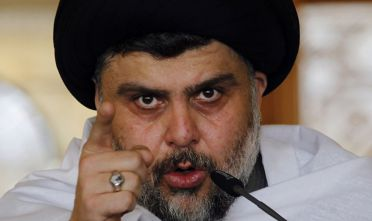 Il leader sciita Moqtada al-Sadr parla ai