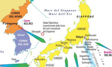 Dettaglio Arcipelago Giappone