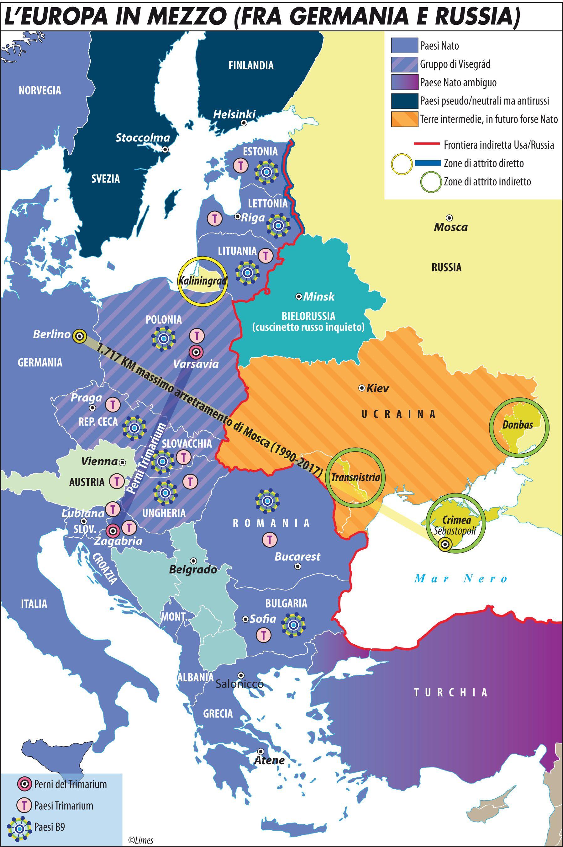 Cartina Geografica Nord Europa.La Marcia Indietro Dell Europa Che Non Sa Piu Governarsi Da Sola Limes