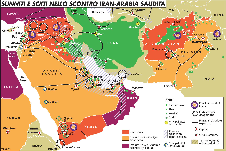 Politica Cartina Geografica Medio Oriente.Le Tre Fasce Della Potenza In Quel Che Resta Del Medio Oriente Limes