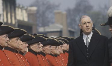 Il presidente francese Charles de Gaulle negli anni Sessanta (Foto: Keystone Colour/Getty Images).