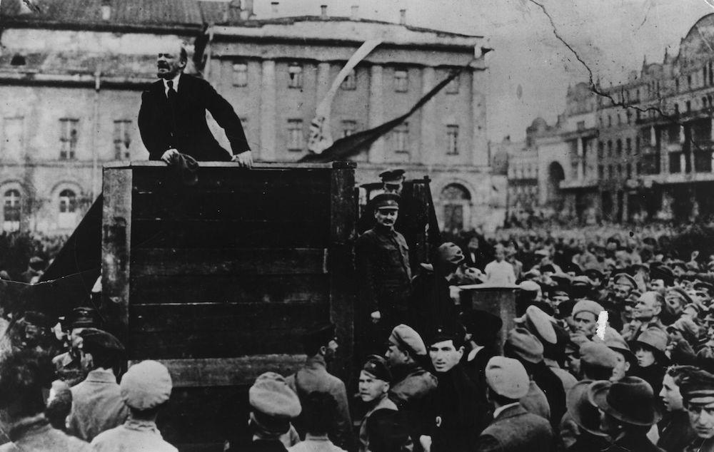 Lenin durante un comizio, 1920 (Foto: Keystone/Getty Images).