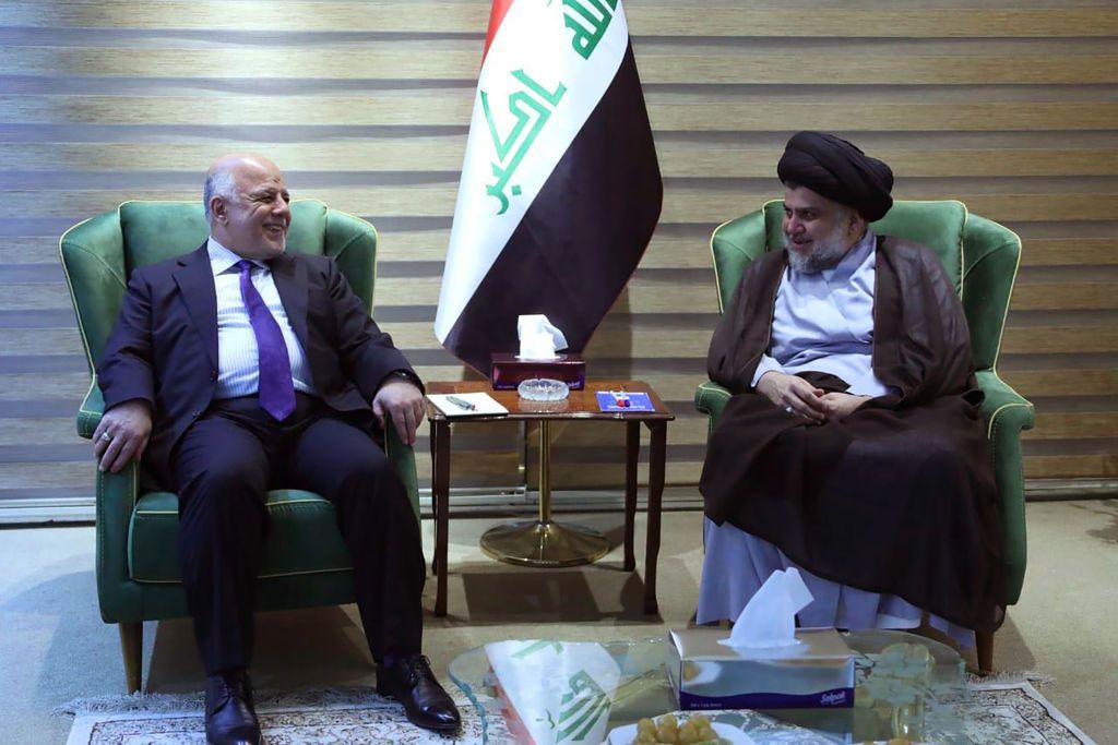 Il primo ministro Haider al-Abadi si incontra con Moqtada al-Sadr a Baghdad il 20 maggio. Foto di: SABAH ARAR/AFP/Getty Images